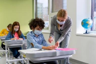 Teacher in pandemic